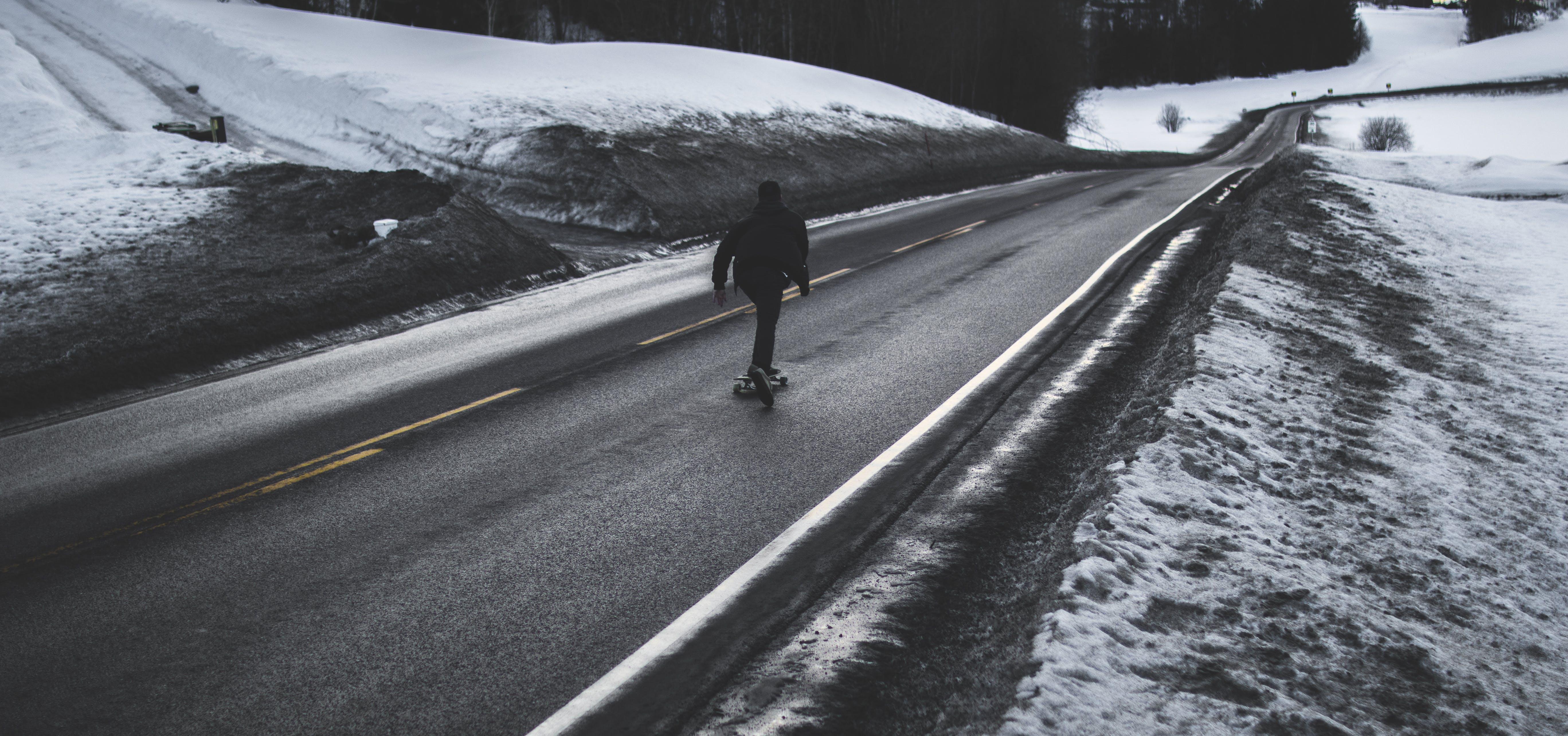 Kostenloses Stock Foto zu asphalt, eis, frost, kalt