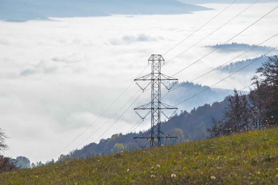 cables, clouds, danger