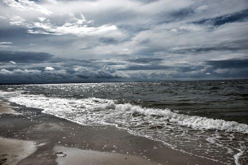 Foto stok gratis air, alam, angin, awan