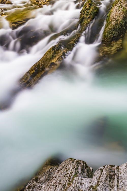 フロー, 岩, 水, 流れの無料の写真素材