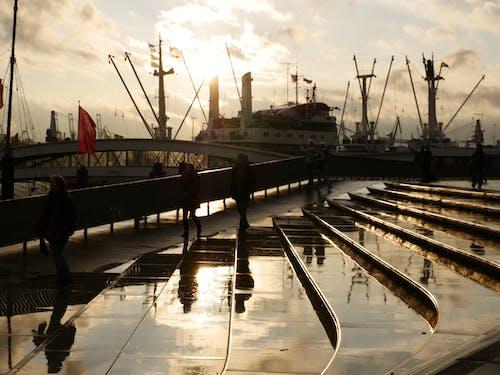 Kostnadsfri bild av fartyg, gyllene timmen, hamn