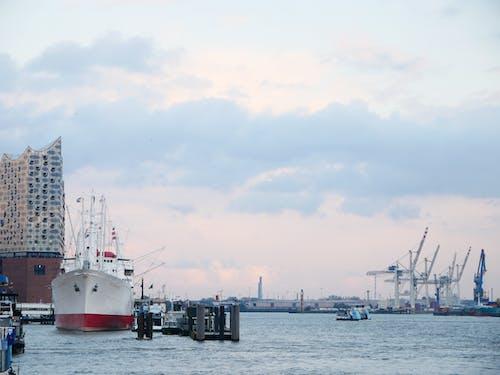 Kostnadsfri bild av fartyg, hamburg, hamnkranar