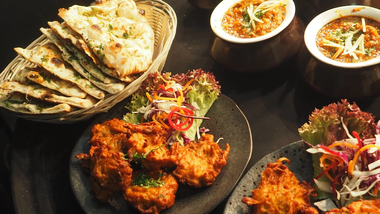 Assorted Fried Dish on Ceramic Plate
