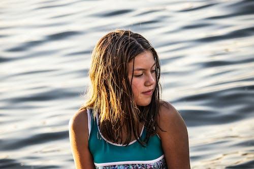 Free stock photo of girl, sea