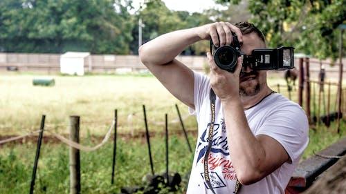 Fotobanka sbezplatnými fotkami na tému človek, deň, fotoaparát, fotograf