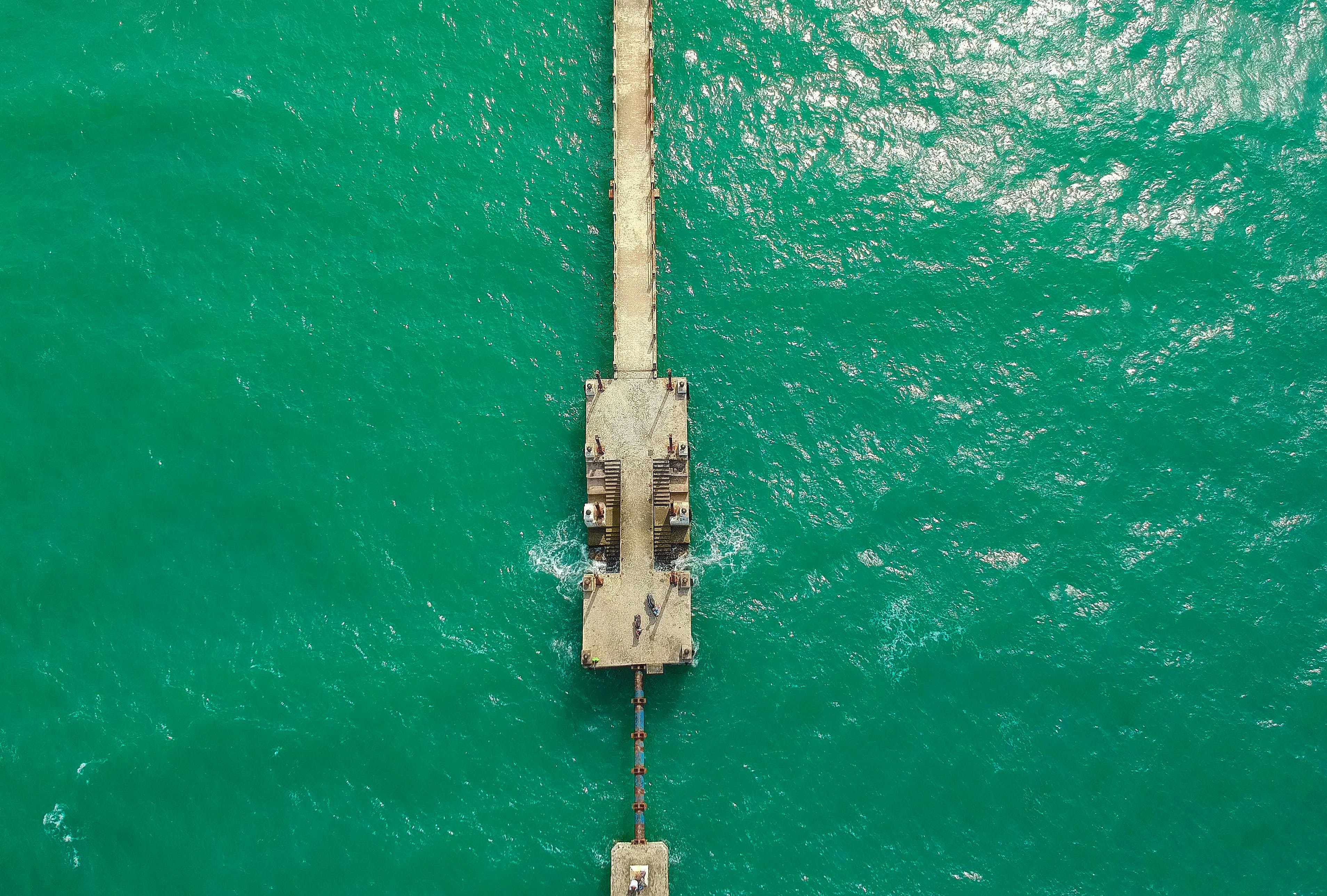 Free stock photo of cold, jetty, sea, green