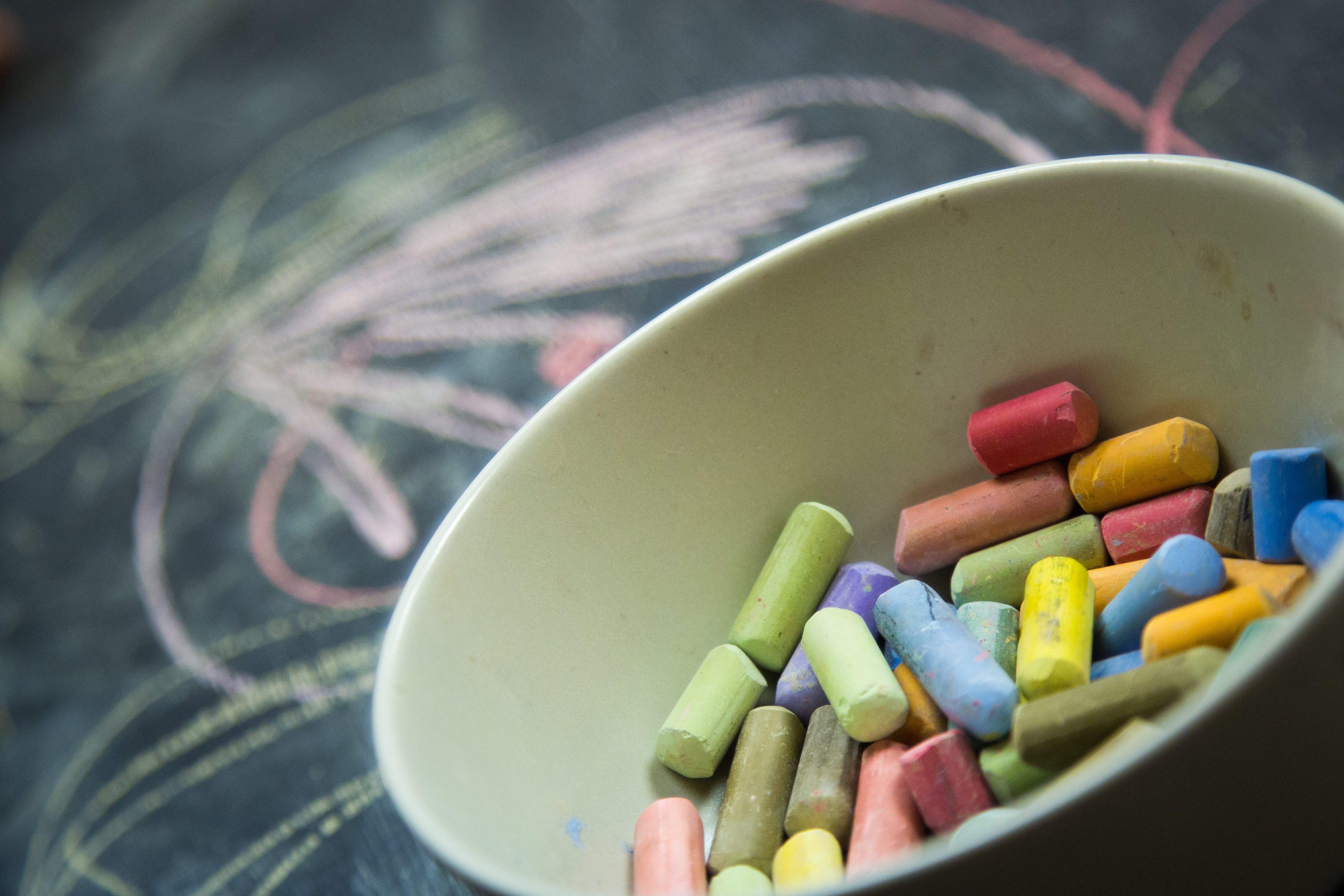 art, blackboard, chalk