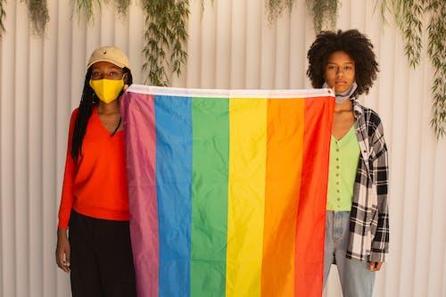 Women holding Pride Flag