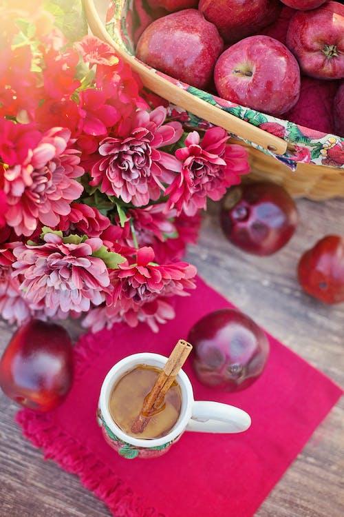Kostenloses Stock Foto zu äpfel, flach liegen, flatlay