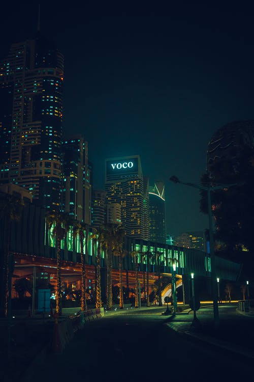 Free stock photo of buildings, high rise building, night lights