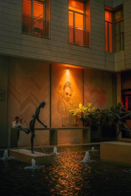 Free stock photo of fine dining, night scene, wall art
