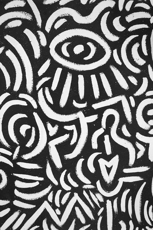 Imagine de stoc gratuită din alb negru, alb-negru, artă stradală, desen