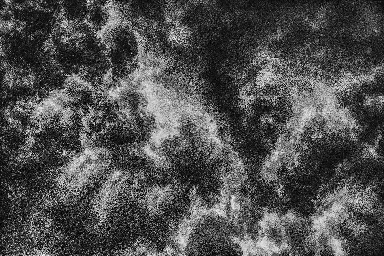 atmospheric, black white, blue