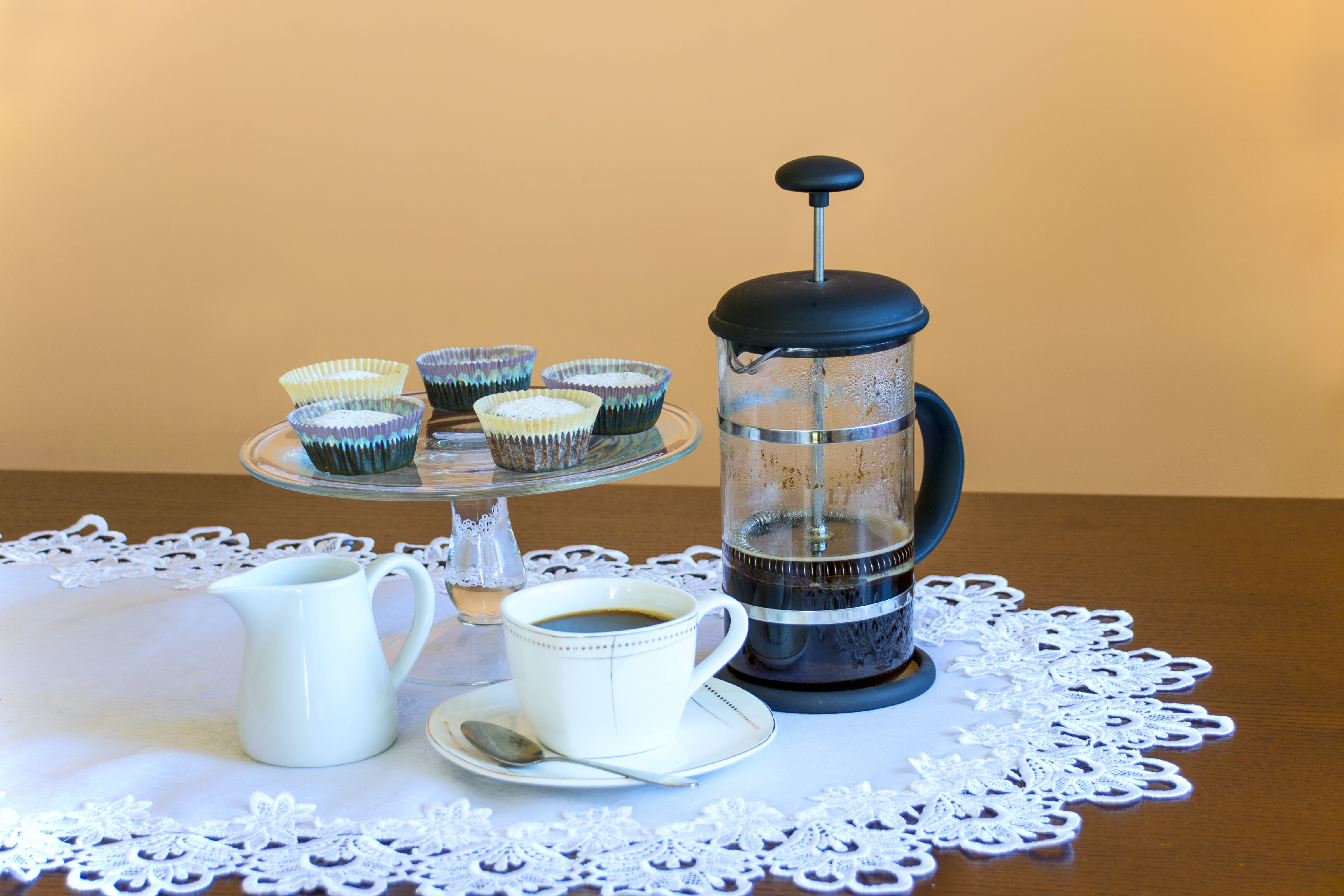 Free stock photo of afternoon coffee, coffee, coffee maker, cookies