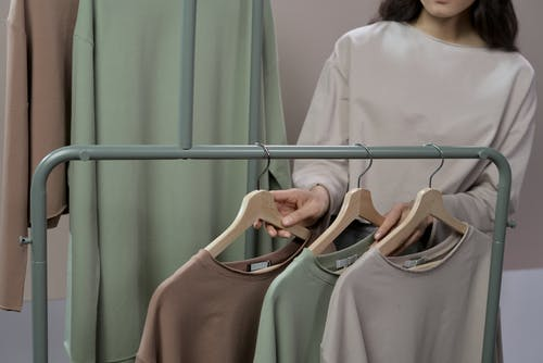 A Woman Shopping for Blouses
