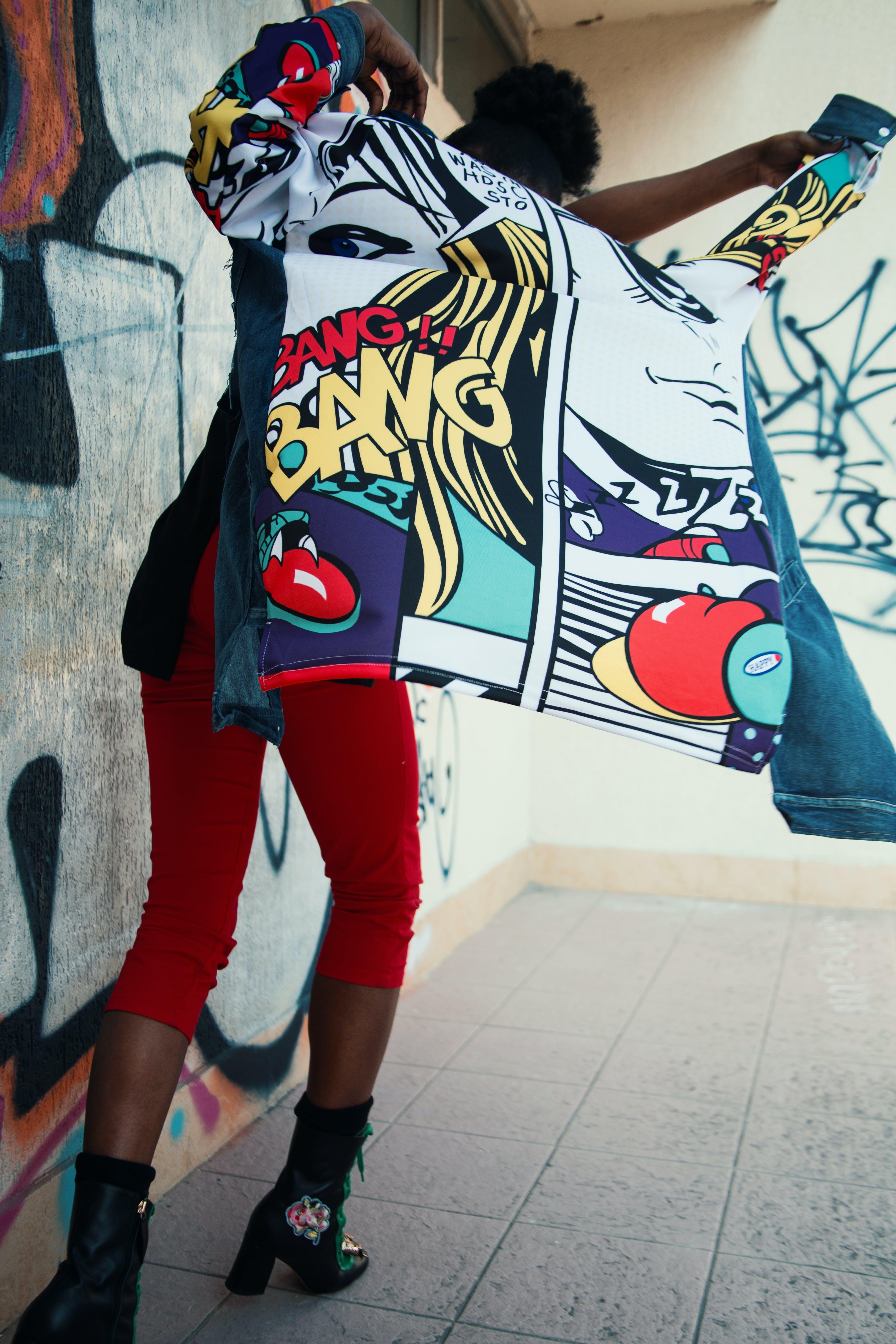 Free stock photo of fashion, red, woman, art