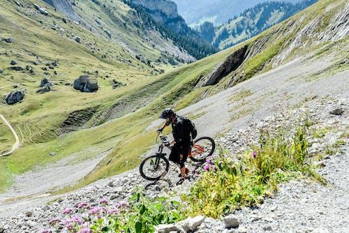 Безкоштовне стокове фото на тему «велосипед, вид збоку, гірський хребет»