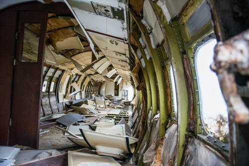 Interior of Abandoned Train