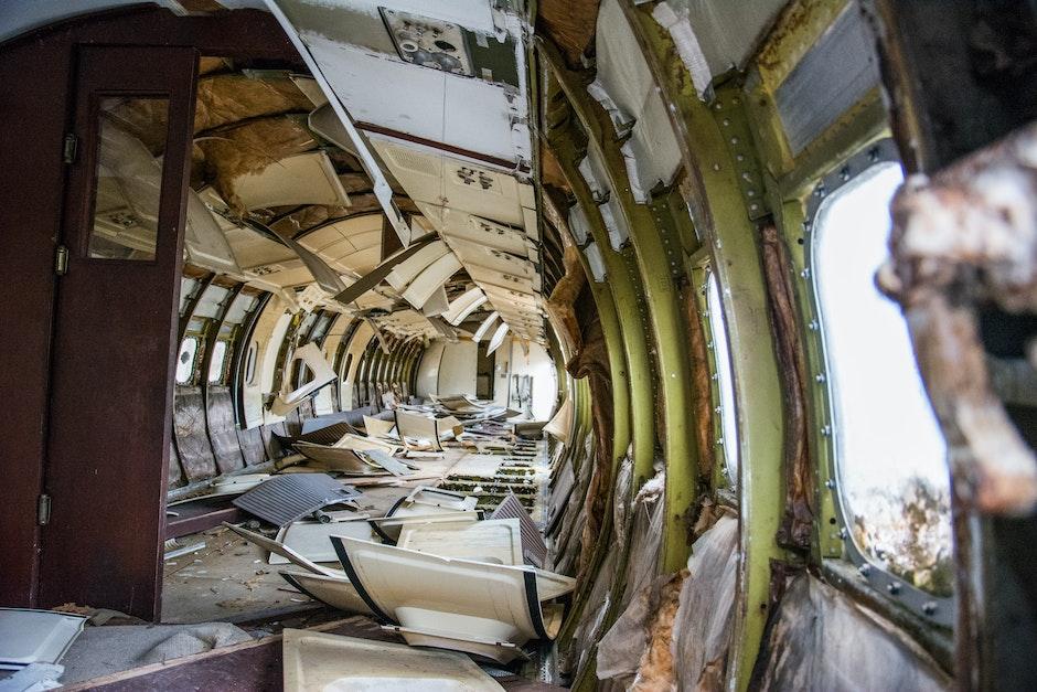 aircraft, airplane, broken