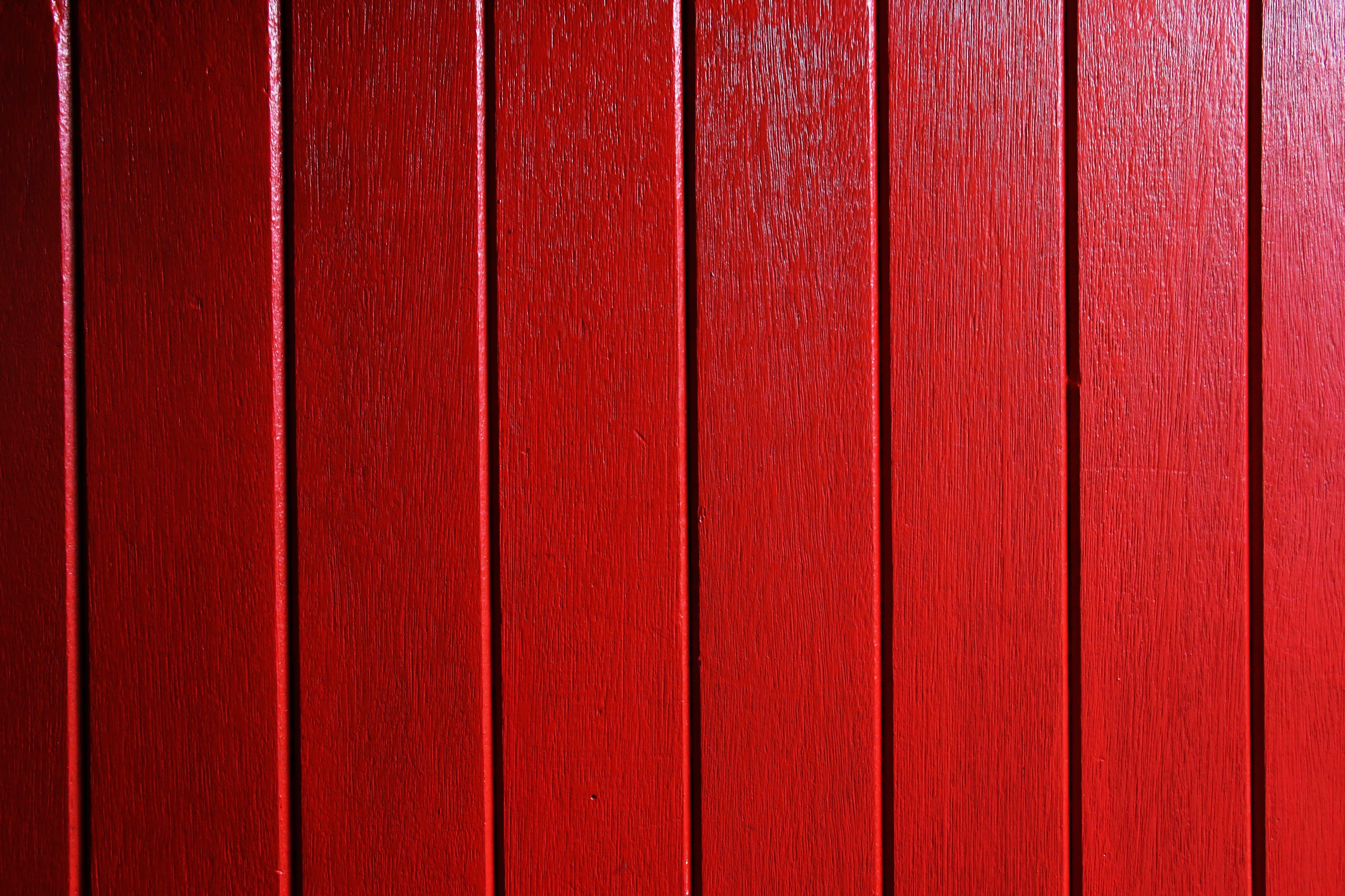 Red Wooden Surface