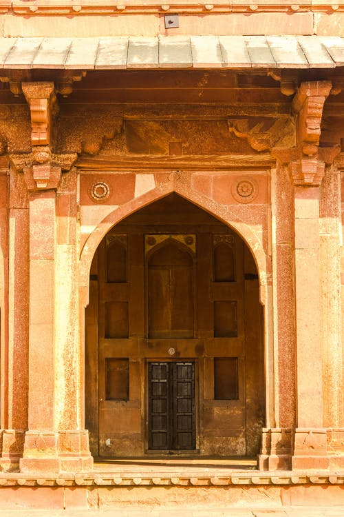 Free stock photo of arched, brown building, india