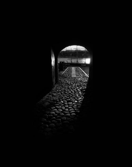 Dark Tunnel during Day