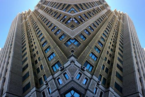 Free stock photo of blue sky, building, mirror