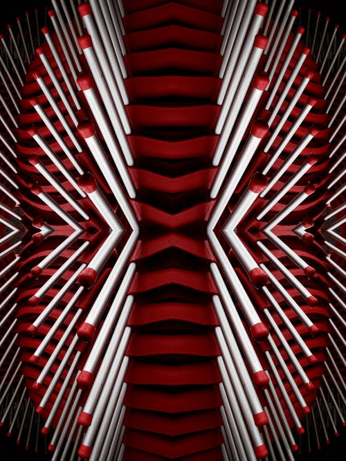 Red and White Matchsticks Wallpaper