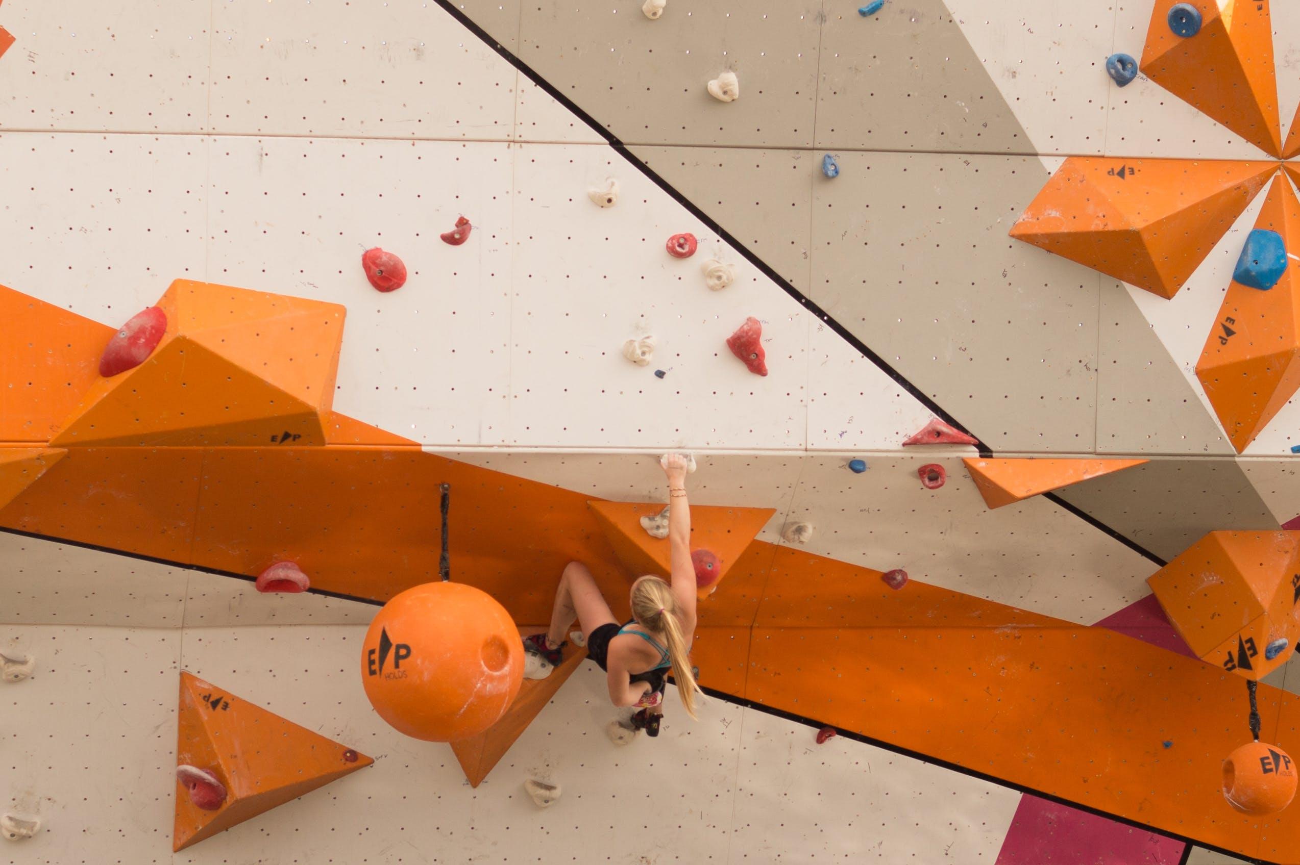 Woman Doing Wall Climbing