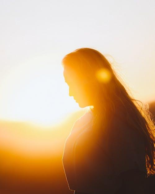 그림자, 긴 머리, 맑은 하늘의 무료 스톡 사진