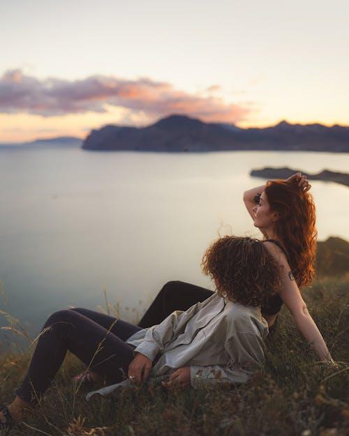 Ingyenes stockfotó alkonyat, barna haj, dzseki témában