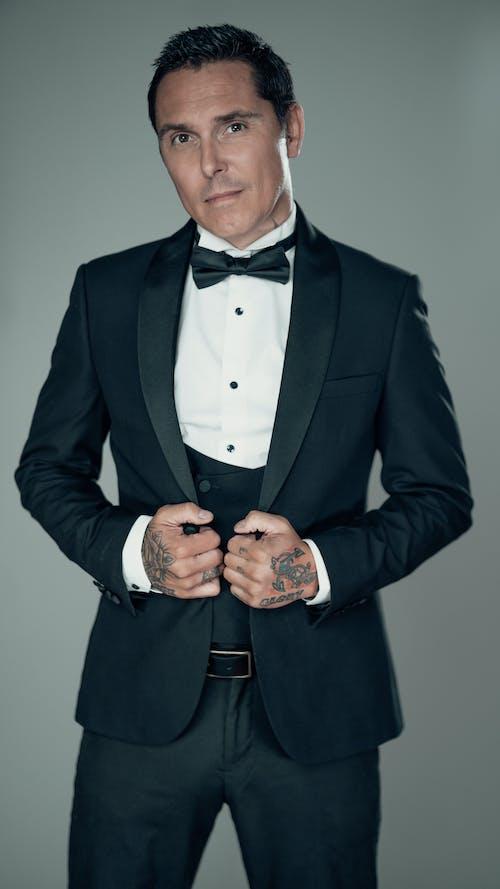 Free stock photo of achievement, actor, black suit