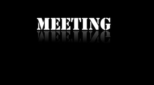 Free stock photo of Meeting text