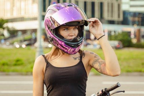 Бесплатное стоковое фото с байкер, велосипед, веселье