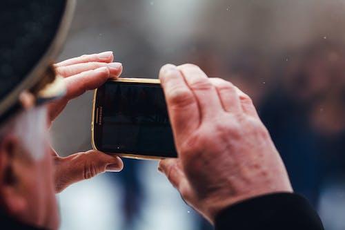 Foto profissional grátis de fotógrafo móvel, smartphone, veterano
