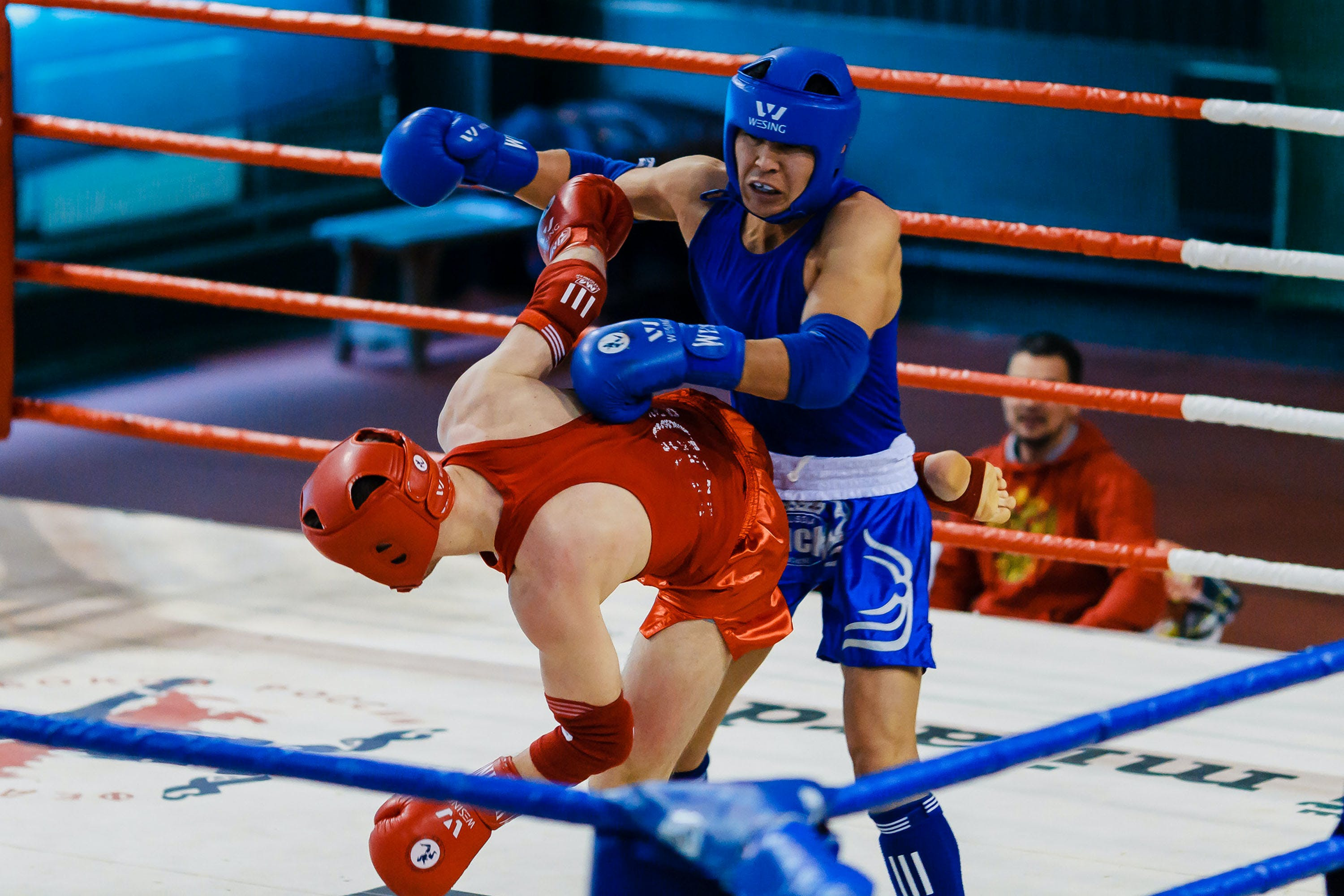 Two Fighters Doing Sparring Match