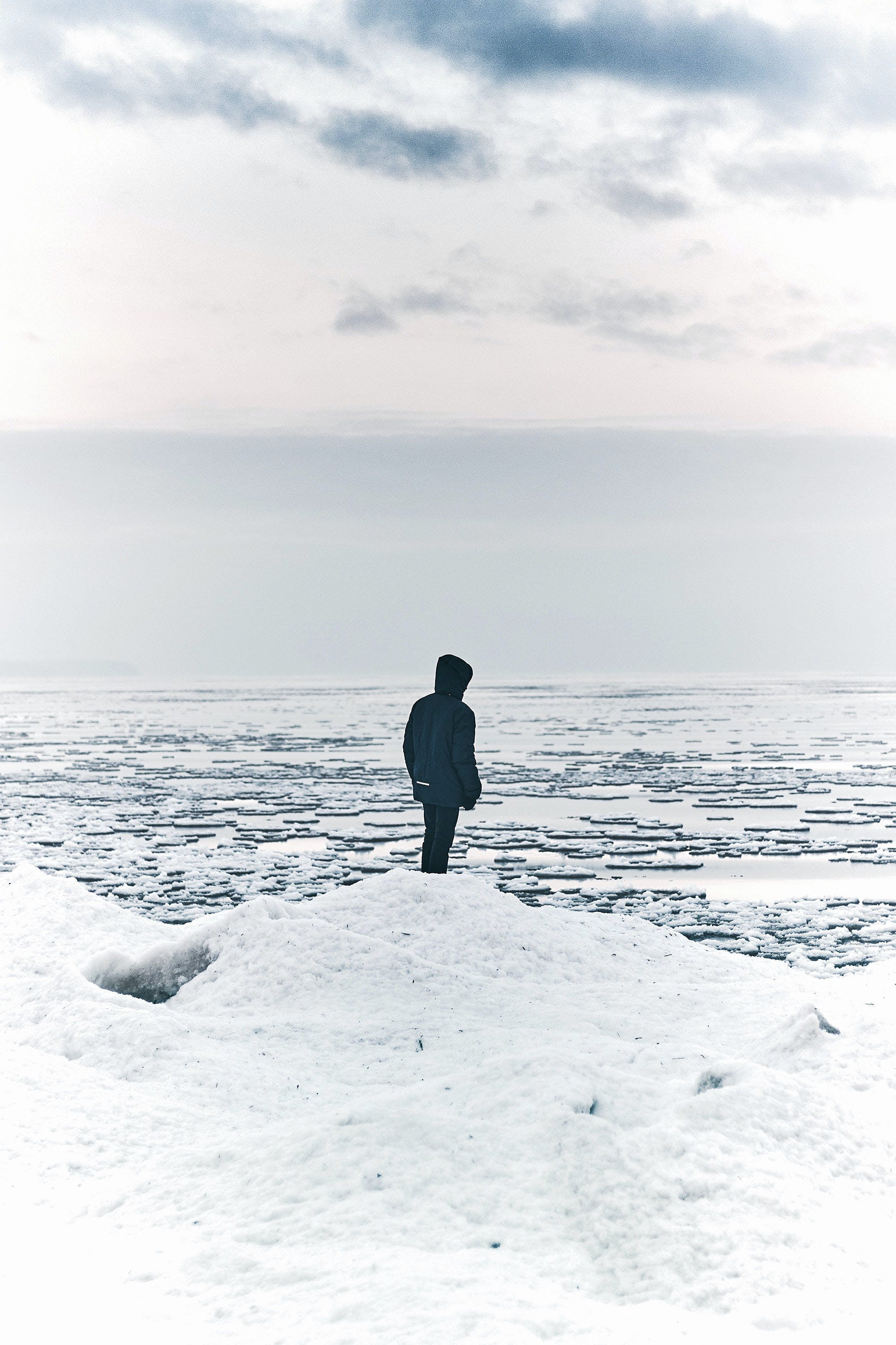 Free stock photo of frosted, ice, person, sea
