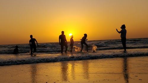 Foto stok gratis alam, India, juhu, matahari terbenam