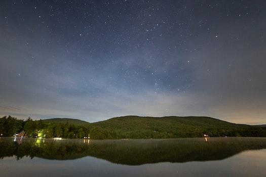 Kostenloses Stock Foto zu natur, himmel, nacht, see