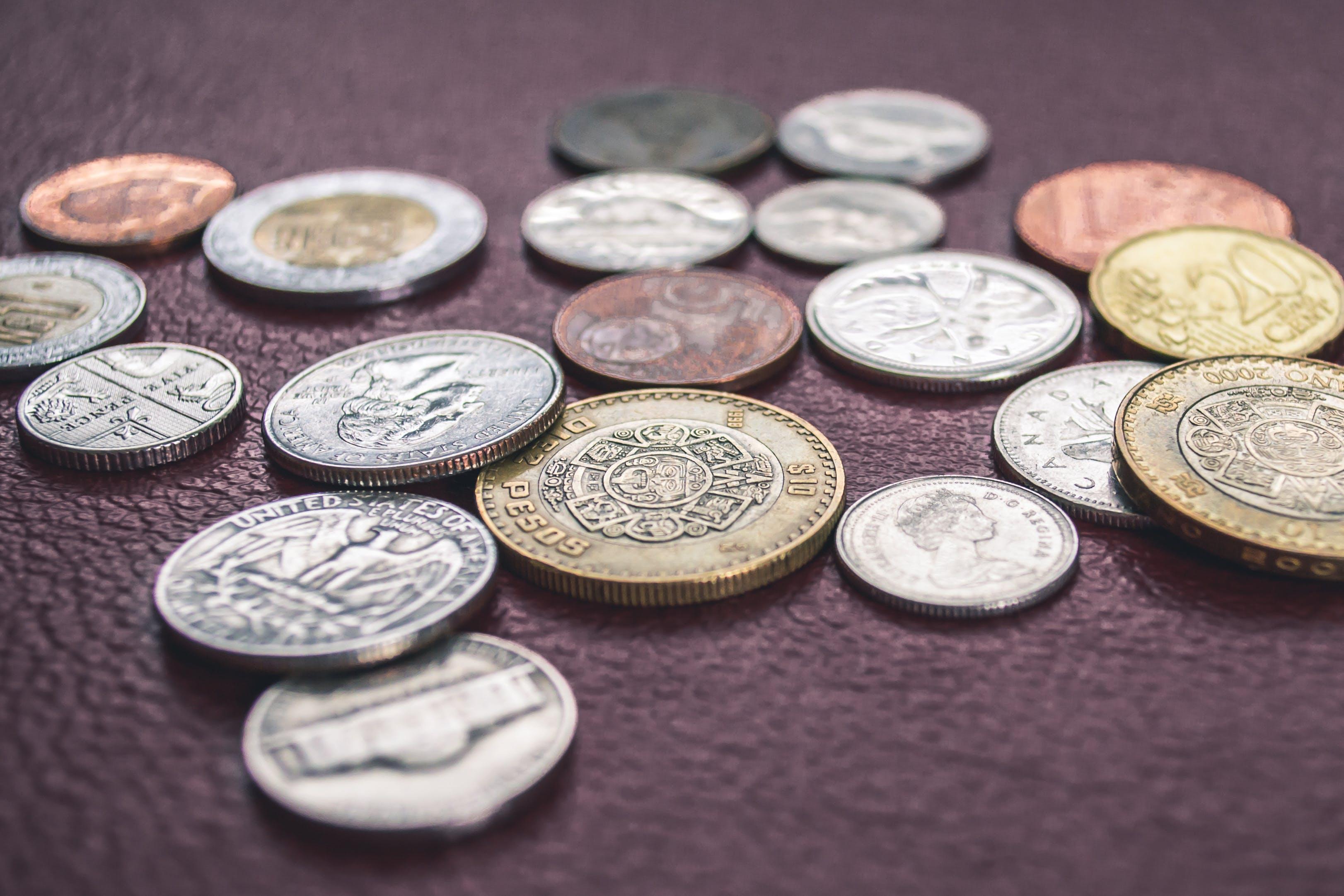 Kostenloses Stock Foto zu usa, geld, münzen, kanada