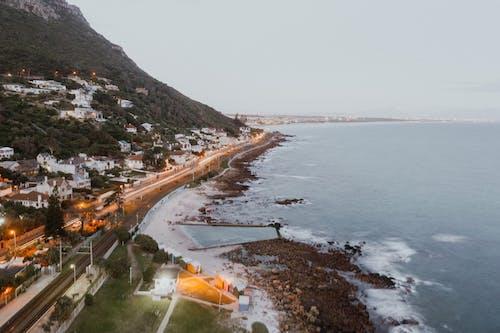 Photos gratuites de à la plage, bassin de marée, beau coucher de soleil