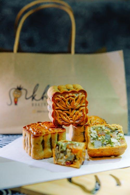 Gratis lagerfoto af cupcake, efterårsblade, løvfald