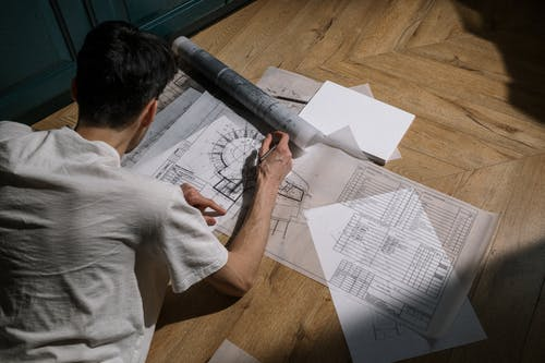 Free stock photo of architect, creating, drawing