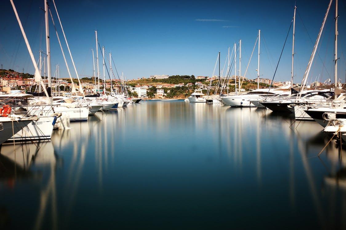 hafen, jachthafen, segelboote