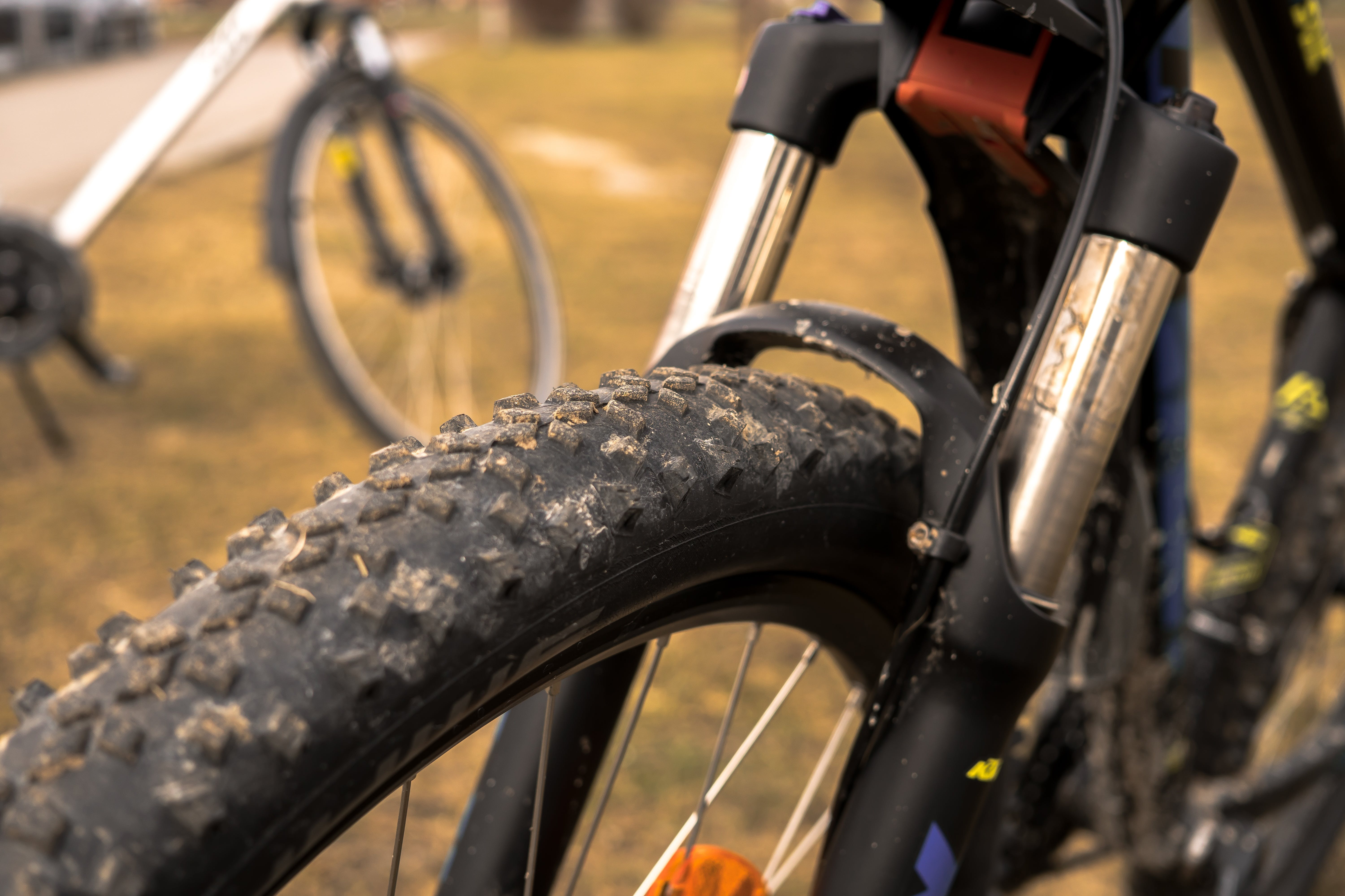 of bicycle tires, close, cycle, cycling