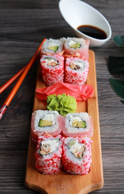 Δωρεάν στοκ φωτογραφιών με maki, nori, sashimi