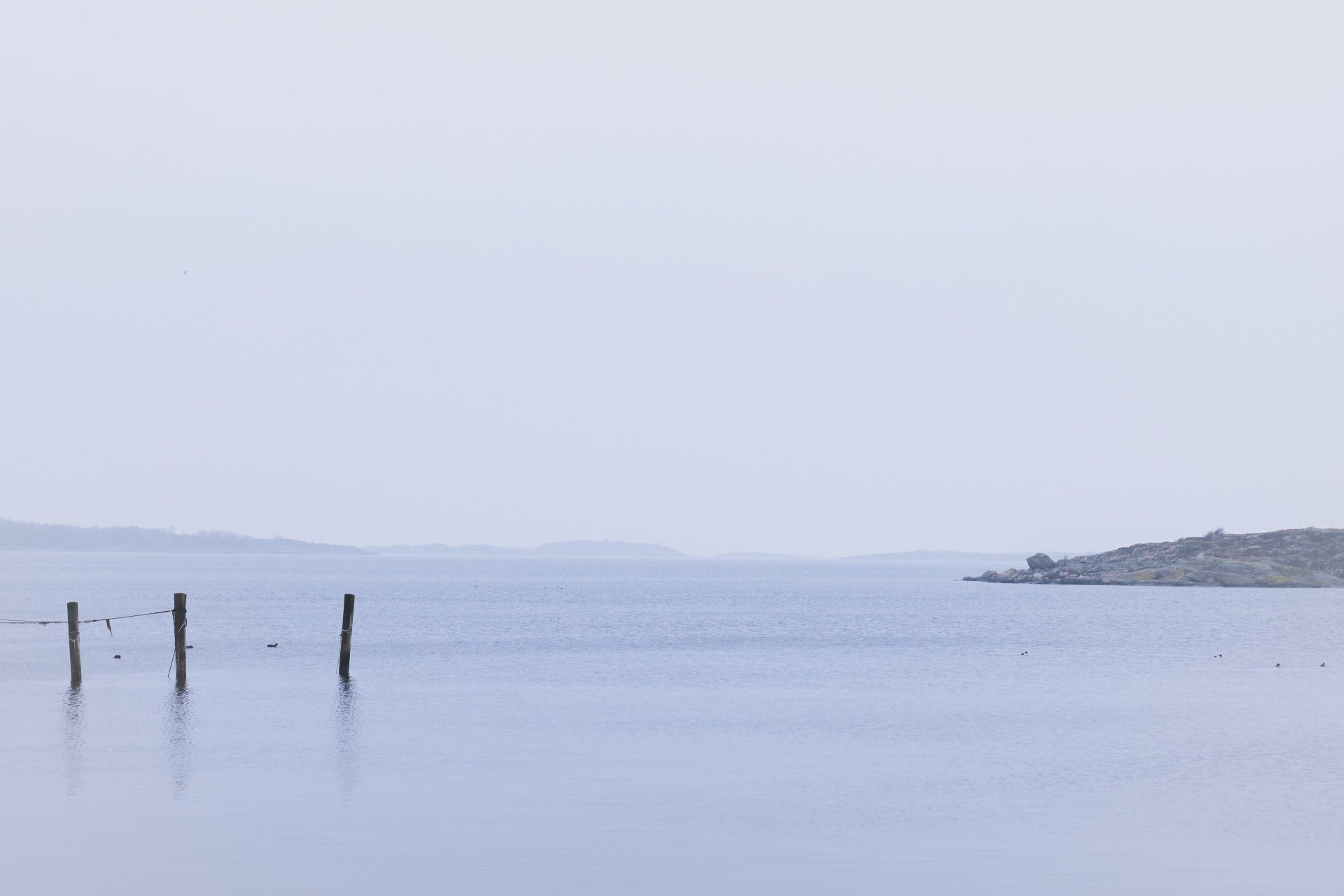 Free stock photo of foggy, islands, lake, mother nature