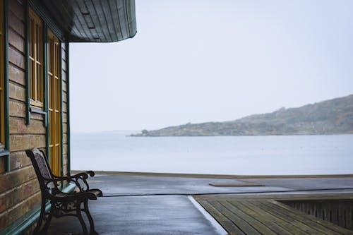 forzen lake, スウェーデン, ベンチ, 水の無料の写真素材