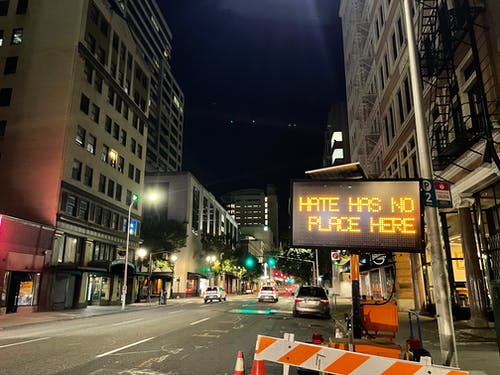 Free stock photo of city, city at night