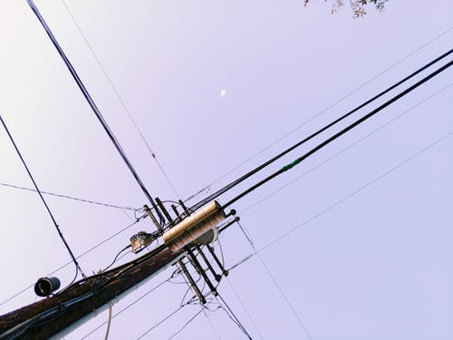 Fotobanka sbezplatnými fotkami na tému lightpole, mesiac, obloha